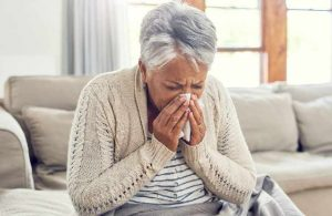 Senior Woman With Colds
