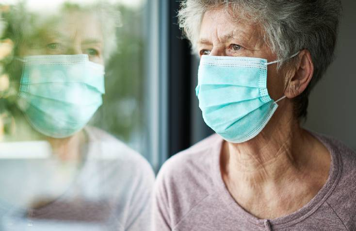 Dementia Patient Wearing Mask