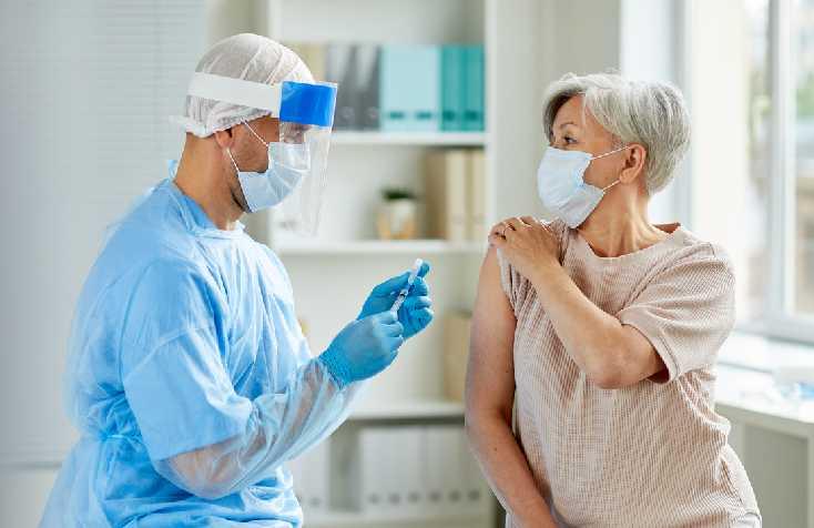 Senior Getting Vaccine