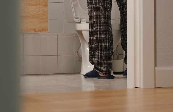 Senior In Bathroom
